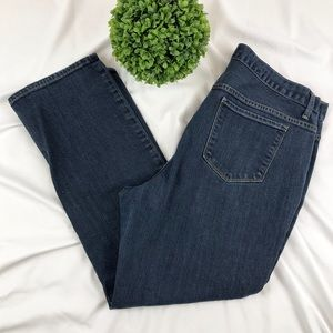 Talbots Petites straight leg dark wash jeans